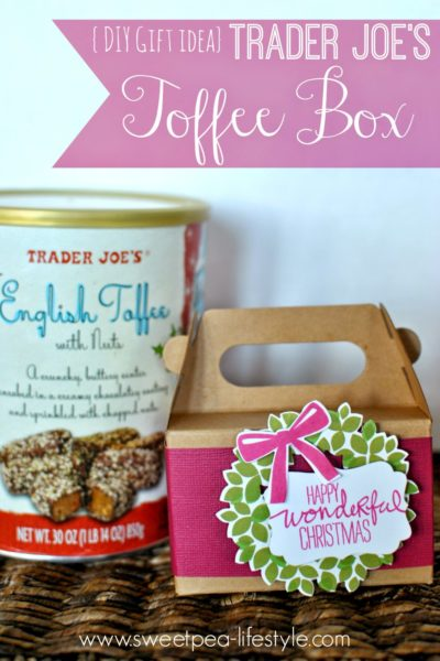{DIY Gift Idea} Trader Joe's Toffee Box