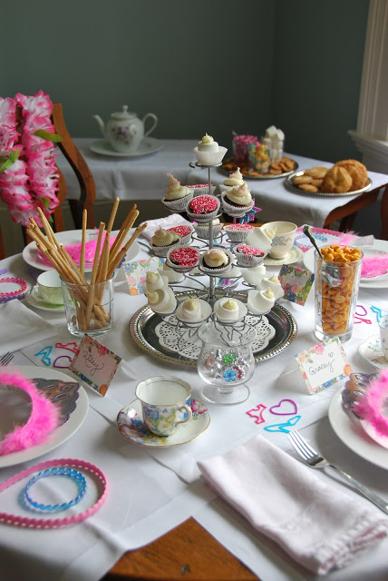 hosting an afternoon tea party is more simple than you think. I few store bought goodies, antique tea cups, and a few fun goodies is all you need!