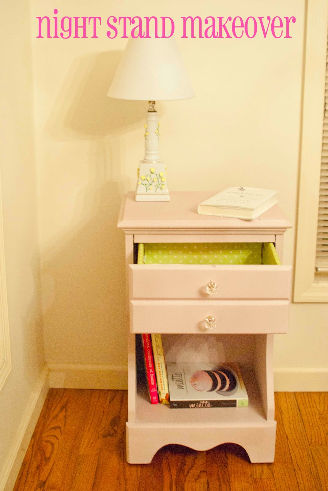Night Stand Makeover Using Annie Sloan Chalk Paint
