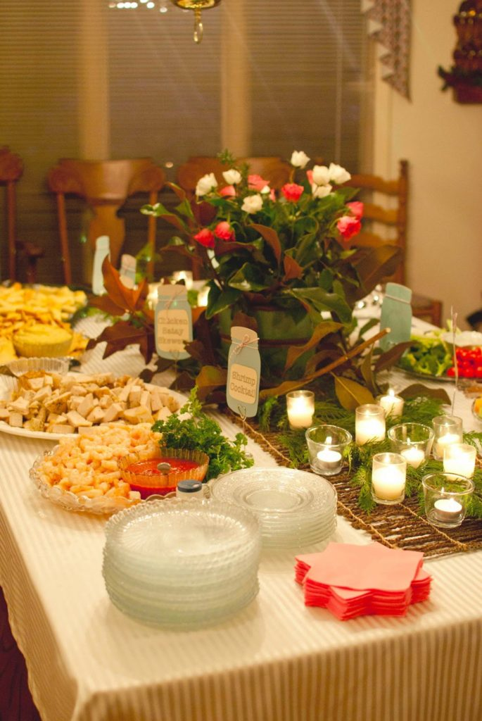 how to arrange a buffet table