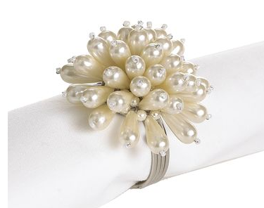 Handmade Holiday: Pearl Napkin Rings