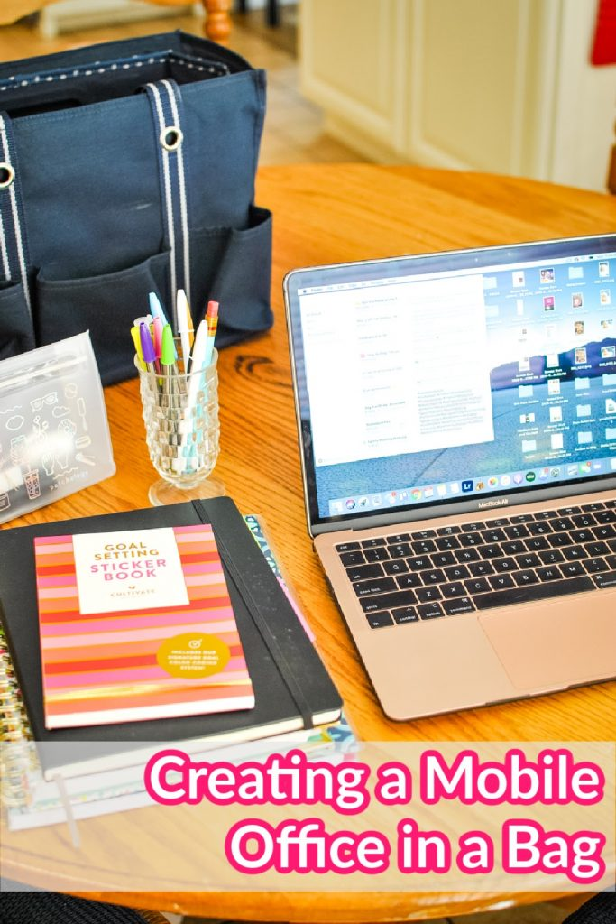 Creating a Mobile Office in a Bag from Sweetpea Lifestyle