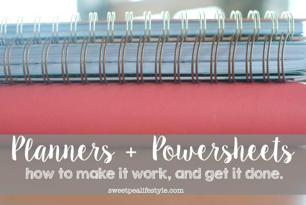 Planners & powersheets help you cultivate your goals and plan them accordingly.
