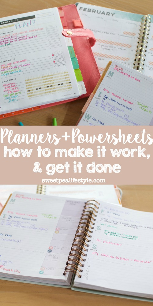 Planners & powersheets help you make it work, so you can get it done.