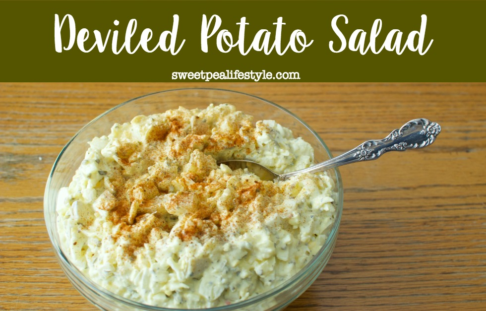 deviled potato salad combines your favorite potato salad with egg salad, and creates the best easter sunday salad!