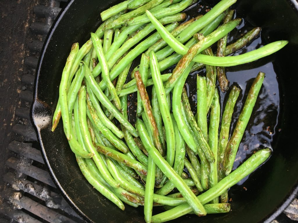 Skillet Grilled Green Beans