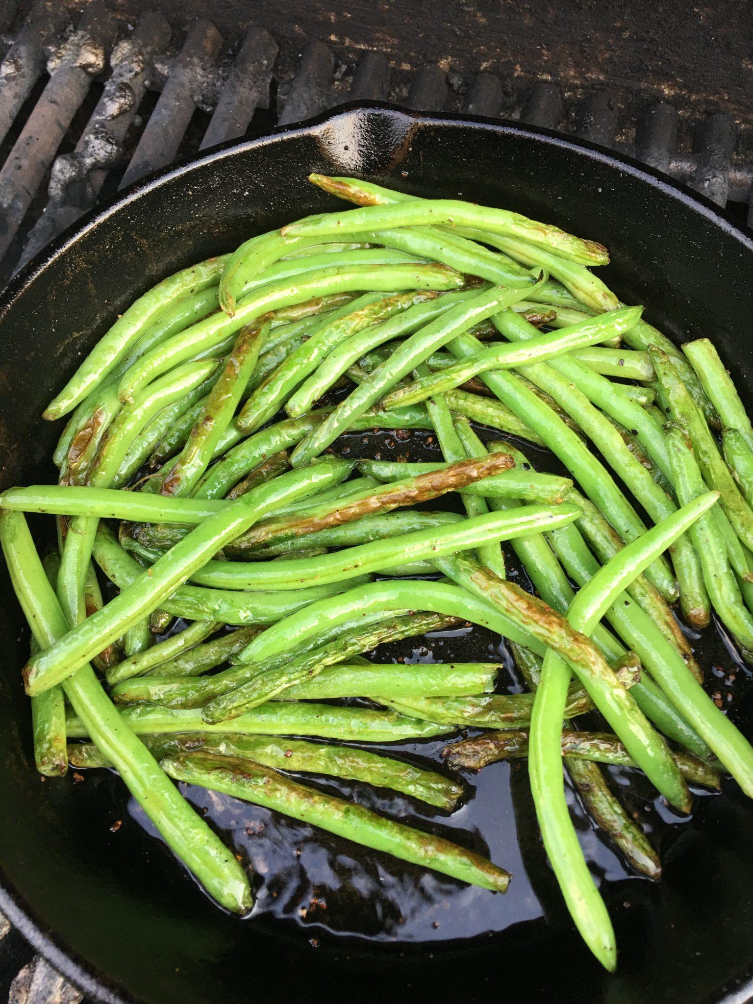 Skillet Grilled Green Beans
