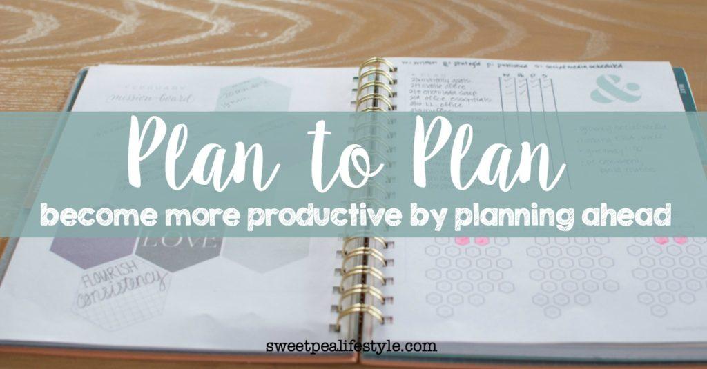 plan to plan