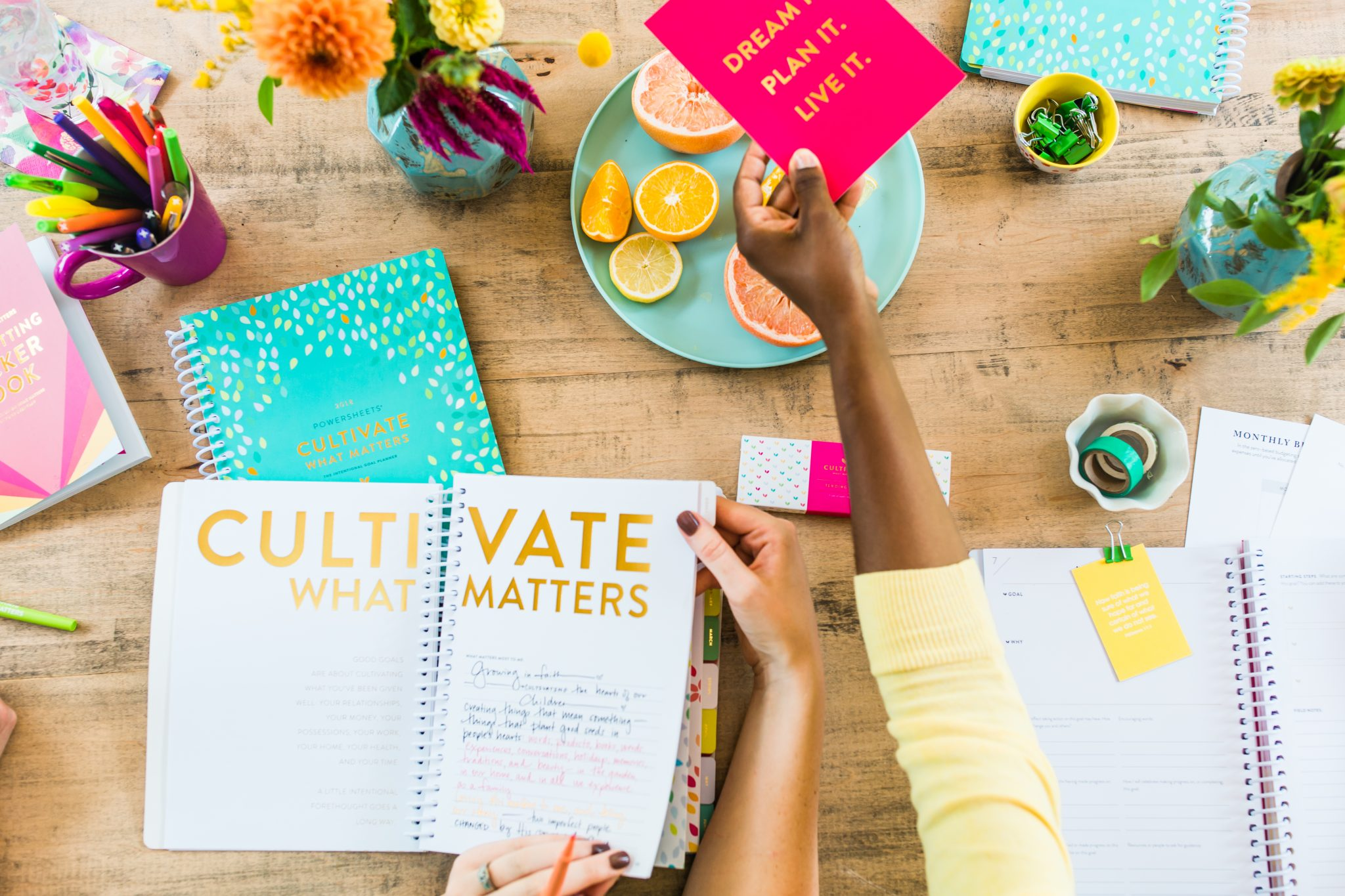 Cultivate What Matters – 2018 Powersheets!