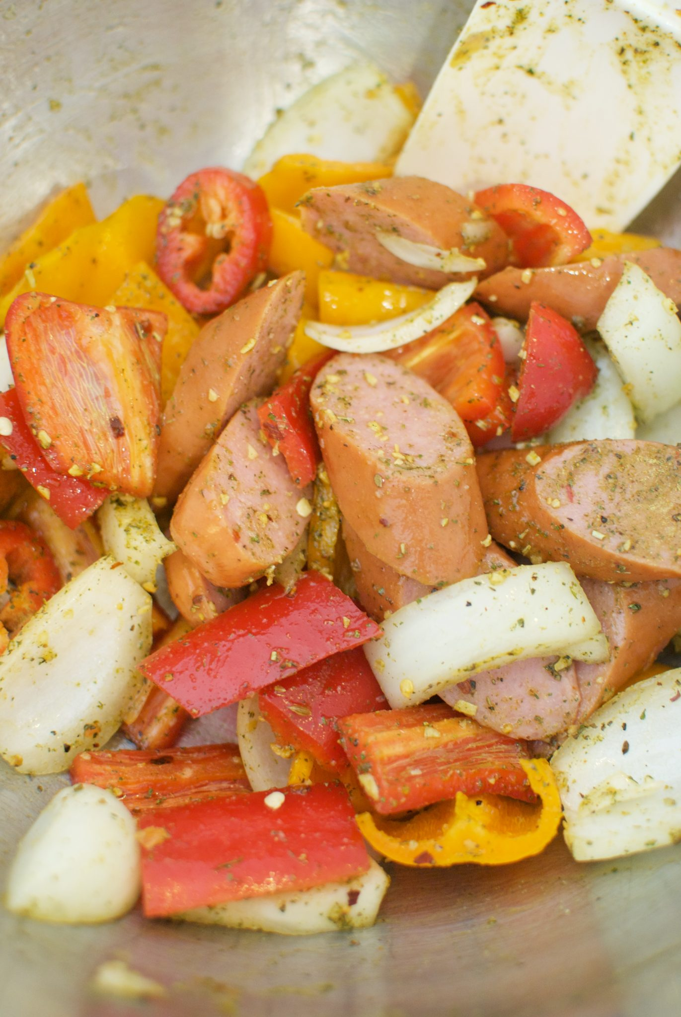 Roasted Sausage & Pepper Skillet Supper