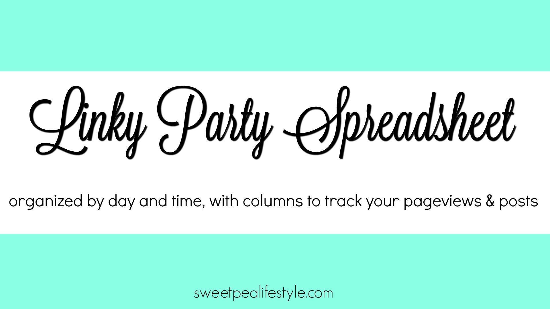 Link Party Spreadsheet Tracker