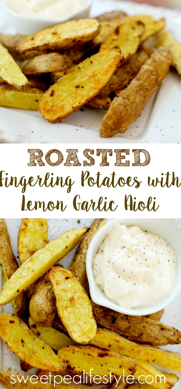 roasted fingerling potatoes with lemon garlic aioli