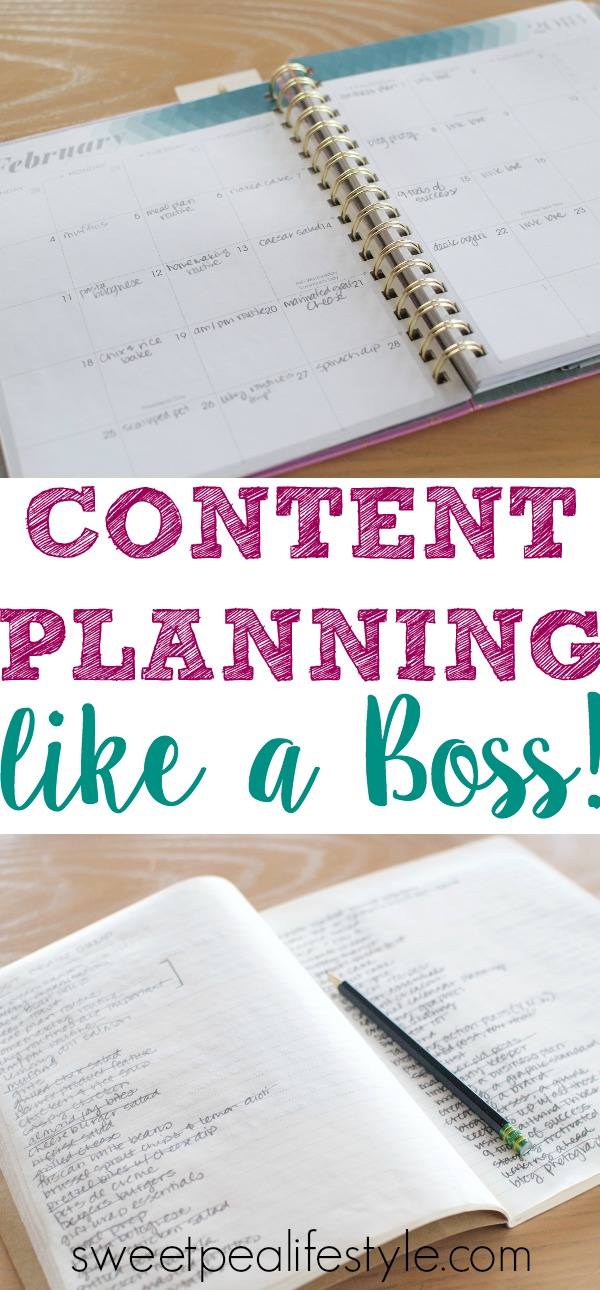 content planning like a boss with sweetpea lifestyle