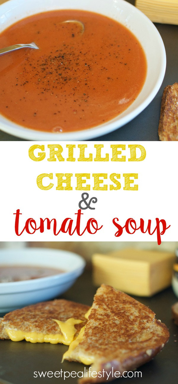 The BEST grilled cheese & tomato soup you will ever make! A few easy pantry staples, and you have a meal within 10 minutes. Great for busy weeknights!