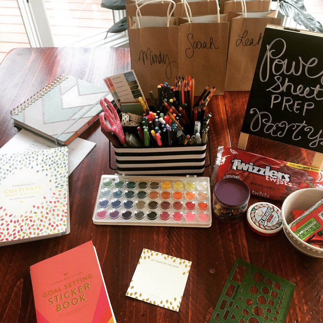 begin your year well powersheets prep party
