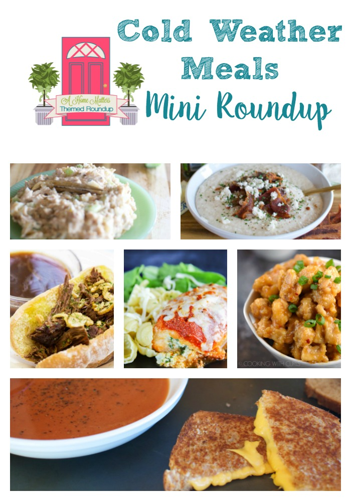Recipe ideas for those cold weather meals. Comfort food that satisfies your family. Plus link up at Home Matters with recipes, DIY, crafts, decor.
