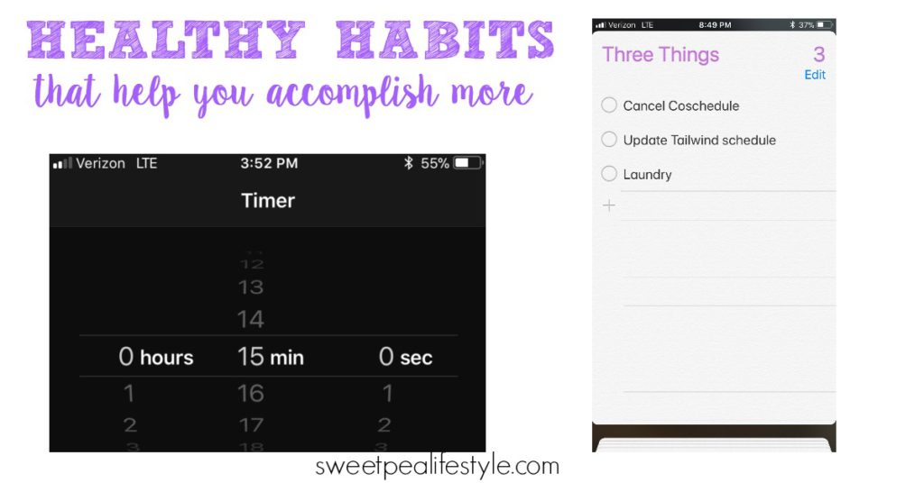 Cultivating healthy habits helps you live a more productive life
