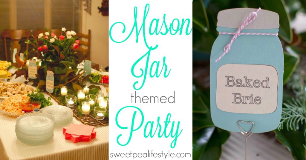 mason jar themed party for any kind of wedding shower or baby shower theme