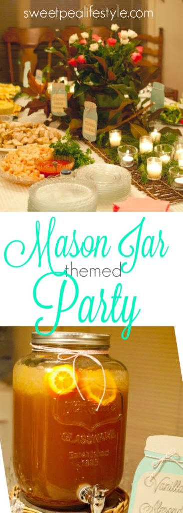 mason jar themed party is economical and cute! Use what you have!