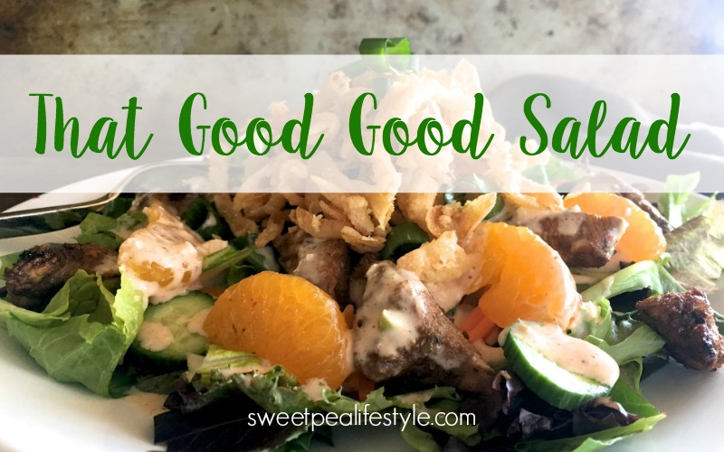 This Good Good salad is exactly what your low carb menu needs tonight.