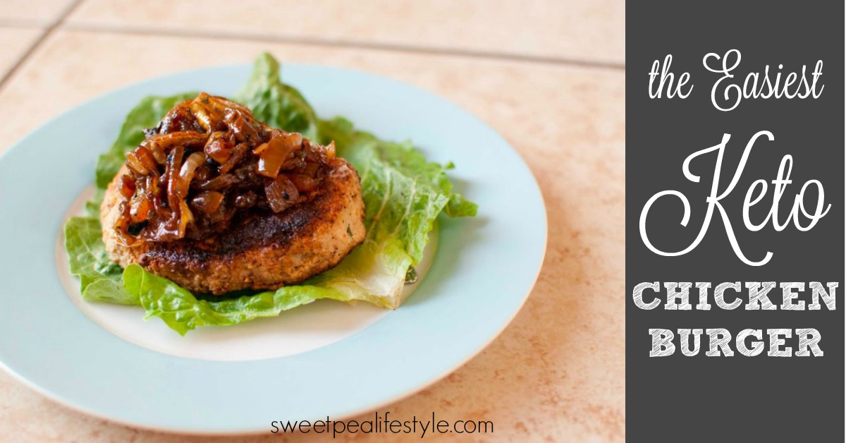 the easiest keto chicken burger you can make with ingredients you have on hand