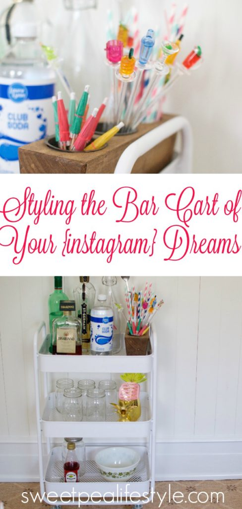 Learn my secrets to styling your bar cart!