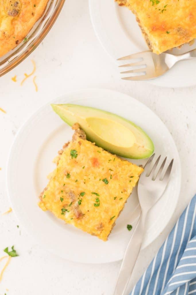 Slice of Easy Keto Egg Bake