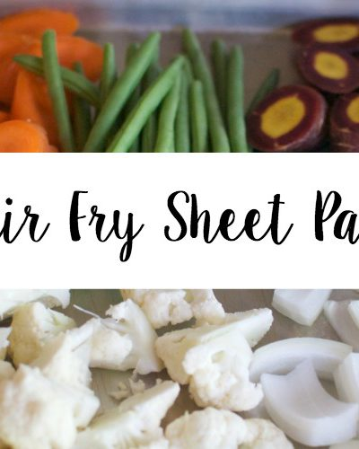 Low Carb Veggie Stir Fry Sheet Pan Supper!