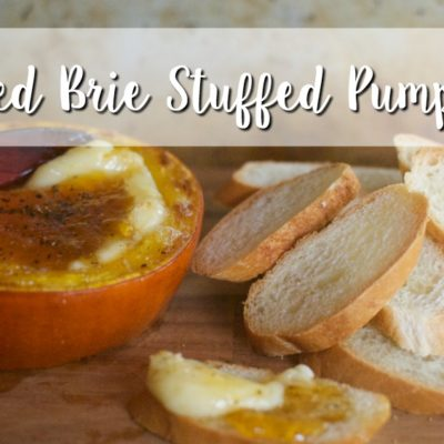 Baked Brie Stuffed Pumpkin