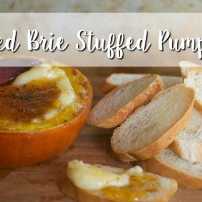 Baked Brie Stuffed Pumpkin