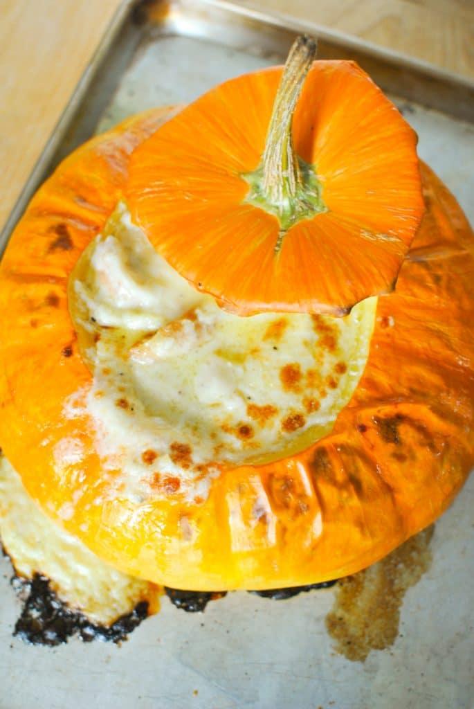 Fondue Baked in a Pumpkin