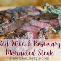 Grilled Red Wine & Rosemary Steak