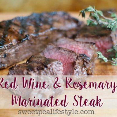 Grilled Red Wine & Garlic Steak