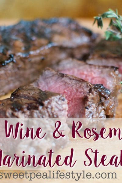 Grilled Red Wine & Garlic Steak
