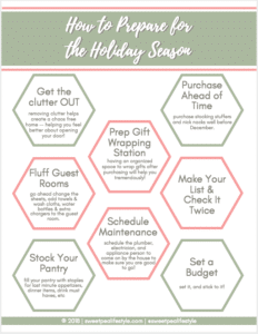 holiday prep tips