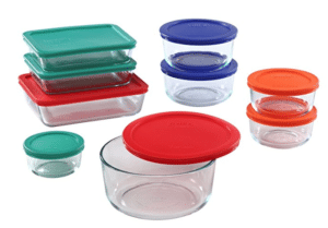 party supplies pyrex glass containers