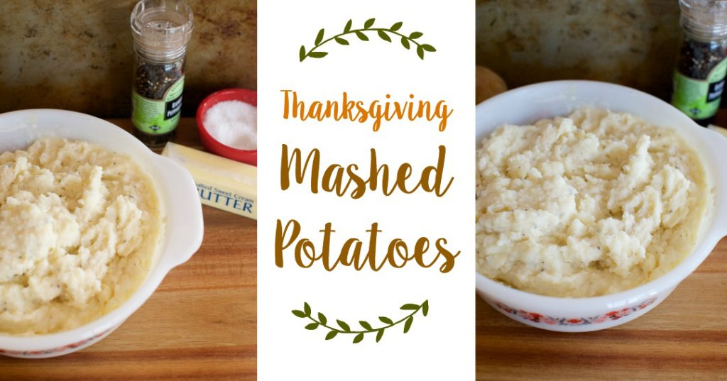 thanksgiving mashed potatoes