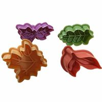 Joinor Cake Leaves Baking Pie Crust Cutters Set of 4 Random Color