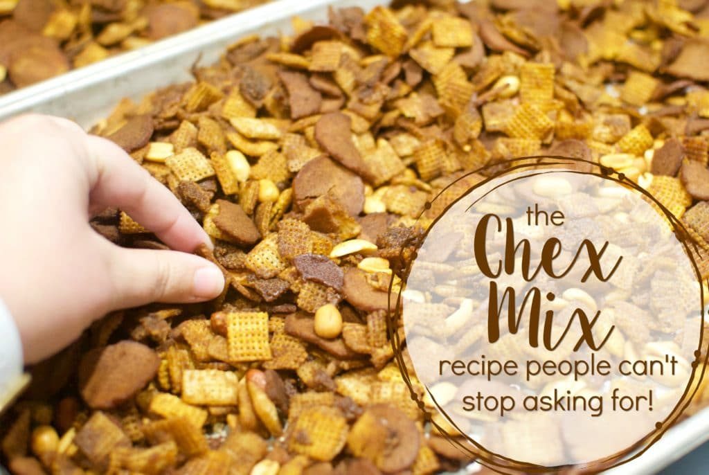 The chex mix recipe everyone asks for, and the neighbors can't stop eating!