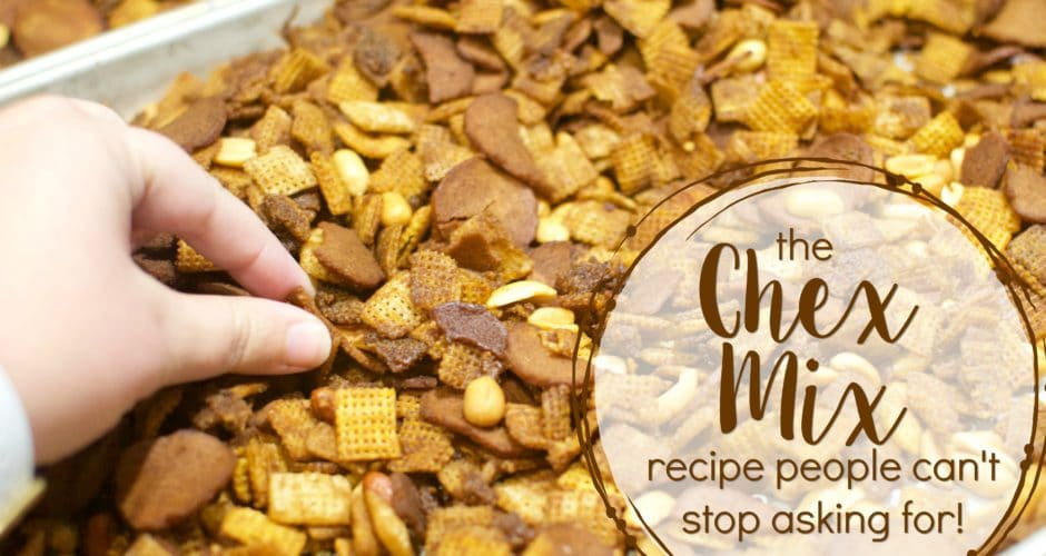 Chex Mix Recipe for a Crowd!