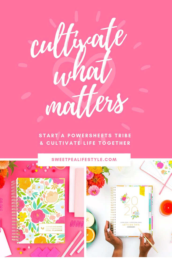 Cultivate What Matters with Powersheets® Intentional Goal Planner. Guiding you to live your best life!