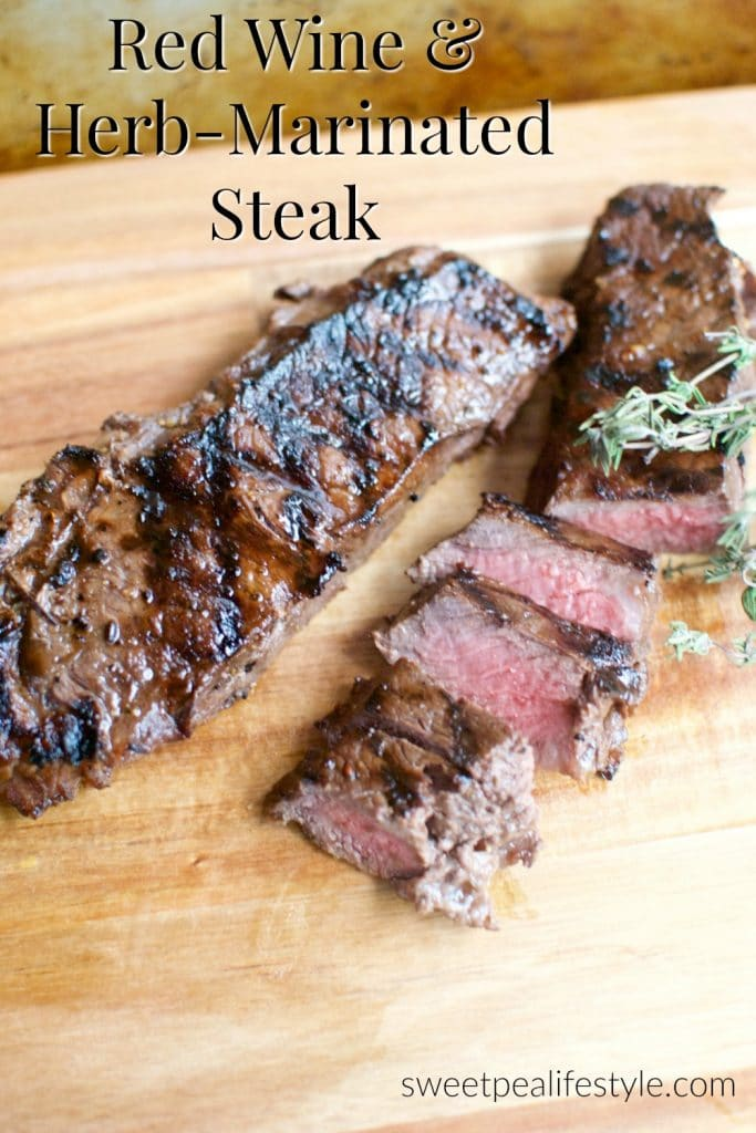 Red Wine and Herb Marinated Steak Recipe