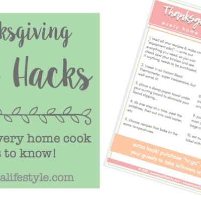 Thanksgiving Prep Hacks to Make Your Life Easier!