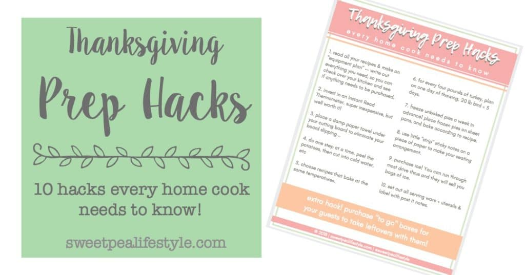 thanksgiving prep ideas