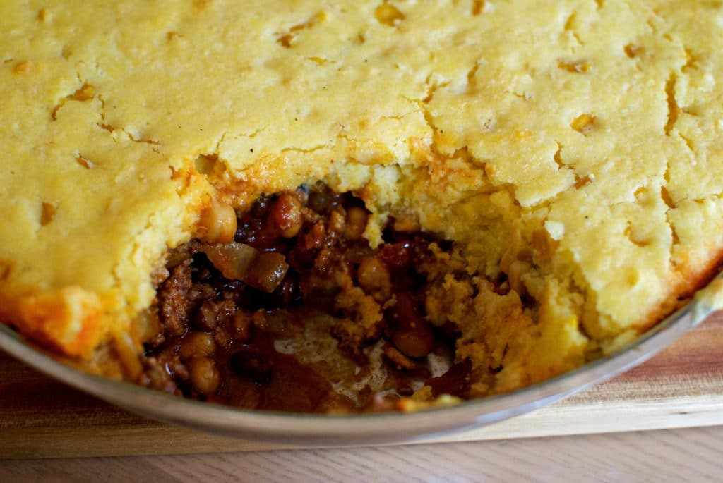 Cornbread Chili Pie is a great comfort meal all in one pot.