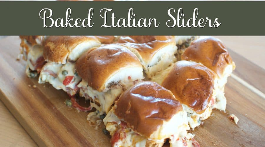Baked italian sliders