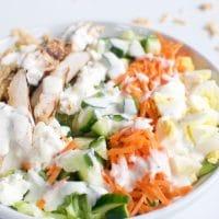 Low Carb Cobb Chicken Salad