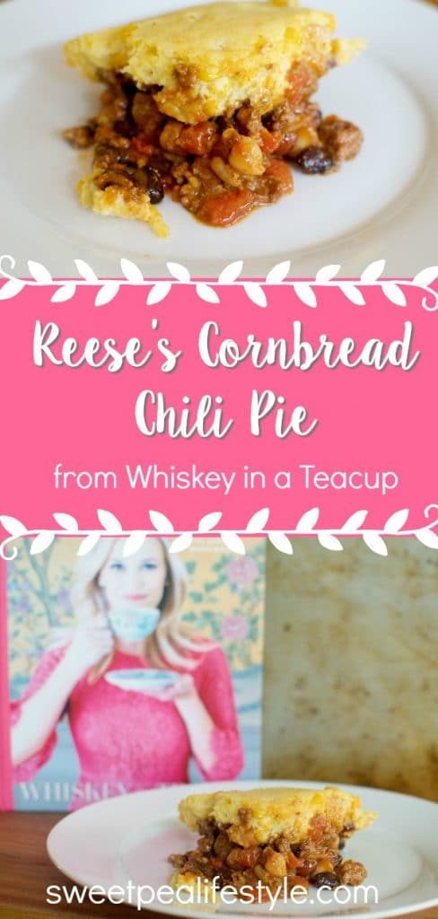Reese's Cornbread Chili Pie recipe from Whiskey in a Teacup