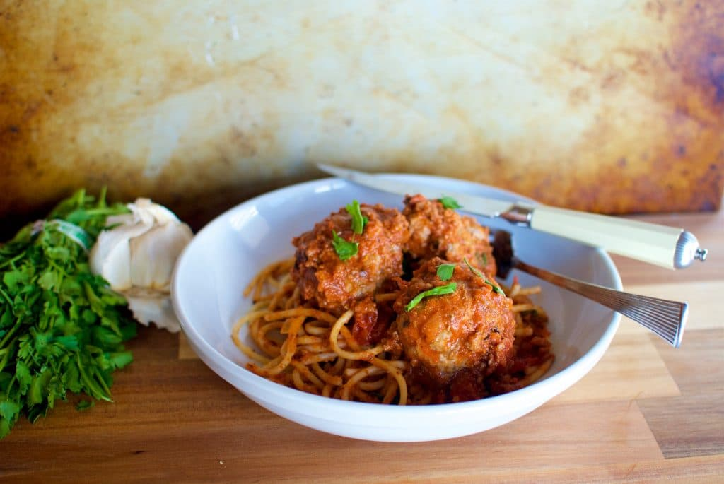 Spaghetti and meatball dinner recipe idea
