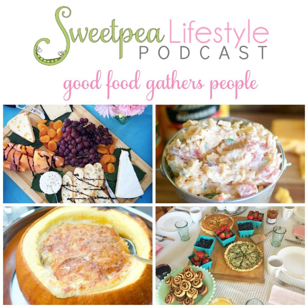 Sweetpea Lifestyle Podcast about food, gathering, and all things southern.